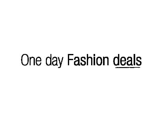 One Day Fashion Deals