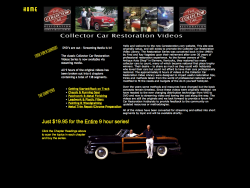 The Collector Car Restoration Home Video Library