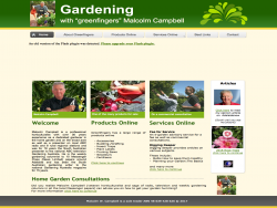 Gardening With greenfingers Malcolm Campbell