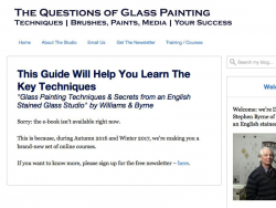 Glass Painting Techniques & Secrets From An English Stained Glass Studio