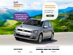 Golf Gewinner Kampagne