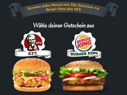 Mcdonalds, Burger King & Kfc