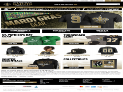 The Official Team Shop Of The New Orleans Saints