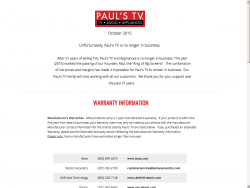 Pauls TV King Big Screen