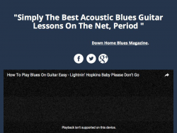 Texas Delta Blues Guitar Course