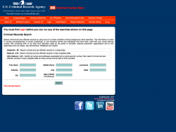 US Criminal Records Agency